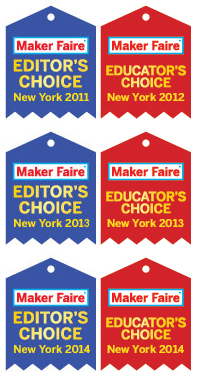 Maker Faire Ribbon Winner in 2011 and 2012!
