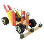 Collect valuable metal off the floor using this magnet-covered Treasure Rover!