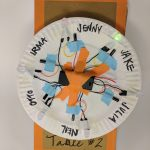 A group project that lights up when you turn the wheel to your name!